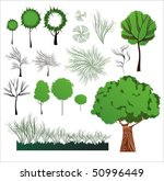 creative vector plants... | Shutterstock .eps vector #50996449