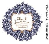 romantic invitation. wedding ... | Shutterstock .eps vector #509968966