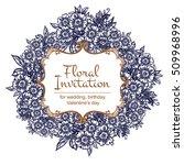 romantic invitation. wedding ... | Shutterstock .eps vector #509968996