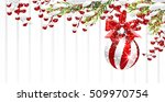 snowy christmas background with ... | Shutterstock .eps vector #509970754