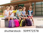 primary education  friendship ... | Shutterstock . vector #509972578