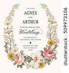 wedding invitation. beautiful... | Shutterstock .eps vector #509973106