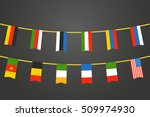 different color flags of... | Shutterstock .eps vector #509974930