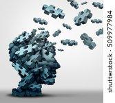 Dementia Puzzle Concept Brain...