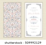 wedding invitation cards ... | Shutterstock .eps vector #509992129