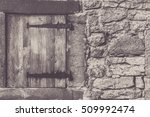 Small photo of Aged wooden trap door