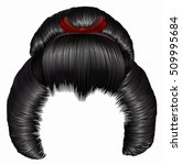 japanese hairstile  with...   Shutterstock .eps vector #509995684
