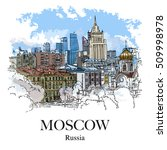 Moscow  Russia  Panoramic View...
