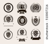hop labels and elements set.... | Shutterstock .eps vector #510007216