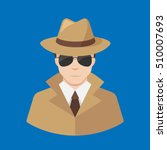 flat male detective icon vector ... | Shutterstock .eps vector #510007693