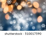 abstract christmas background...   Shutterstock . vector #510017590