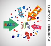 sale banner design.vector... | Shutterstock .eps vector #510018466