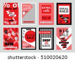 collection of sale banners ... | Shutterstock .eps vector #510020620