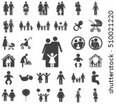 family icon on the white... | Shutterstock .eps vector #510021220