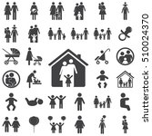 family graphic design   vector... | Shutterstock .eps vector #510024370