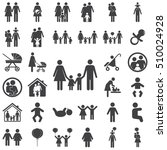family icon on the white... | Shutterstock .eps vector #510024928