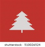 knitted red christmas pattern...