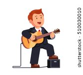 business man in a suit playing... | Shutterstock .eps vector #510030010