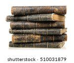 Stack Of Old Books Isolated O...