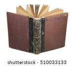 open old book isolated on white | Shutterstock . vector #510033133