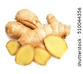 fresh ginger root cut into... | Shutterstock . vector #510044356