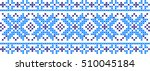 embroidered pattern on... | Shutterstock .eps vector #510045184