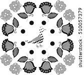 pattern of floral motifs  bird  ... | Shutterstock .eps vector #510057379