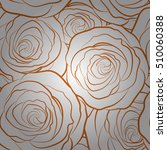 brown vector roses petals on a... | Shutterstock .eps vector #510060388