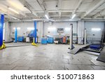 car under repair in a car... | Shutterstock . vector #510071863