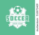 soccer emblem flat icon on... | Shutterstock .eps vector #510072409