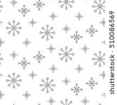 vintage snowflake simple... | Shutterstock .eps vector #510086569