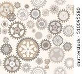 clock cogwheels. pale... | Shutterstock .eps vector #510095380