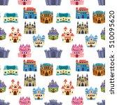 cartoon fairy tale castle tower ... | Shutterstock .eps vector #510095620