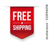 free shipping ribbon red vector | Shutterstock .eps vector #510096058