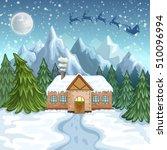 merry christmas card.... | Shutterstock .eps vector #510096994
