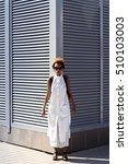 young beautiful african girl... | Shutterstock . vector #510103003