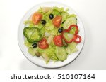 Small photo of Salad plate with olives