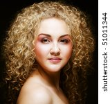beautiful young blonde with... | Shutterstock . vector #51011344
