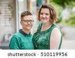 close up of lesbian married... | Shutterstock . vector #510119956