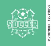 soccer emblem line icon on... | Shutterstock .eps vector #510148903