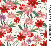 retro seamless floral... | Shutterstock .eps vector #510149080