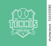 tennis emblem line icon on... | Shutterstock .eps vector #510153580