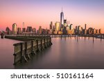 new york city skyline on the... | Shutterstock . vector #510161164