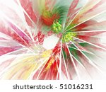 Colorful fractal broken glass abstract image isolated on white - stock photo