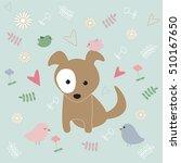 white dot on the puppy | Shutterstock .eps vector #510167650