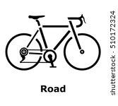 road bike icon. simple... | Shutterstock .eps vector #510172324