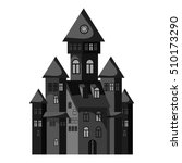 Witch Castle Icon. Gray...