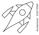 rocket with porthole icon.... | Shutterstock .eps vector #510175969