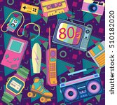 eighties 80s | Shutterstock .eps vector #510182020