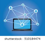 technology connecting people | Shutterstock .eps vector #510184474